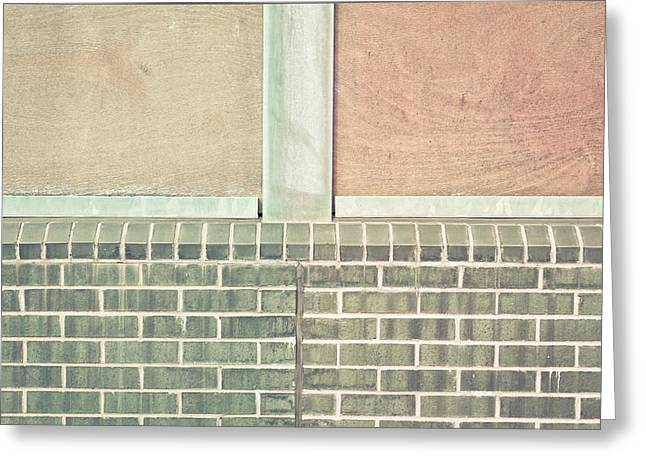 Brick Buildings Greeting Cards - Wall background Greeting Card by Tom Gowanlock