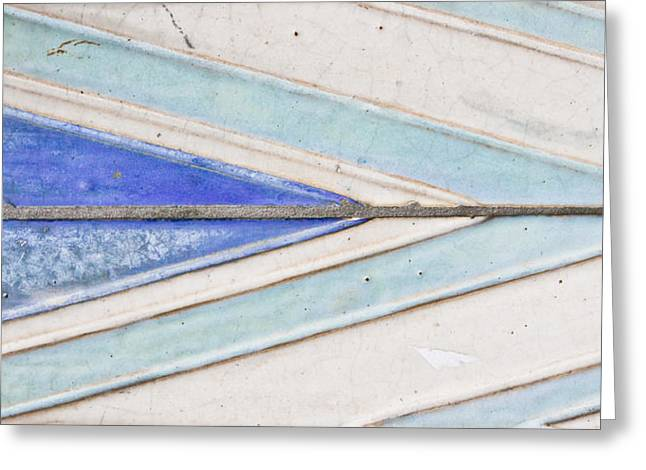Arrow Abstract Greeting Cards - Wall tiles Greeting Card by Tom Gowanlock