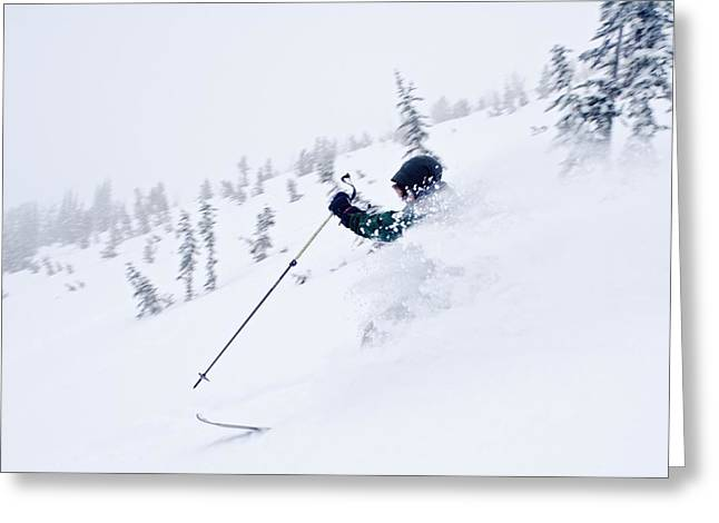 Ski Jumping Greeting Cards - Wallawa Mountains, Oregon, Usa Downhill Greeting Card by Dan Sherwood
