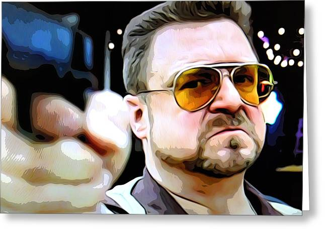 Big Lebowski Photographs Greeting Cards - Walter Greeting Card by Guido Prussia
