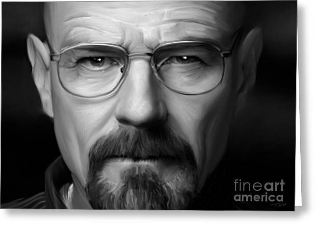 Vince Digital Greeting Cards - Walter White - Color Greeting Card by Paul Tagliamonte