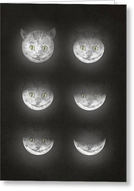 Waning Moon Greeting Cards - Waning Cheshire Greeting Card by Eric Fan