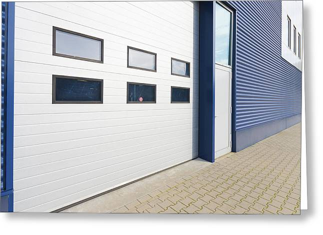 Distribution Office Greeting Cards - Warehouse Exterior Greeting Card by Hans Engbers