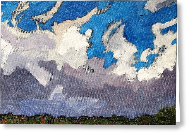 Canadian Greeting Cards - Warm Frontal Rain Greeting Card by Phil Chadwick