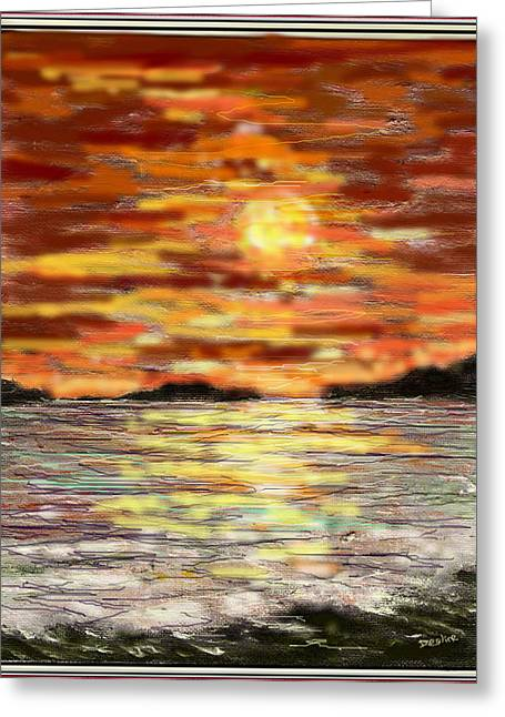 Color Enhanced Mixed Media Greeting Cards - Warmth Greeting Card by Desline Vitto