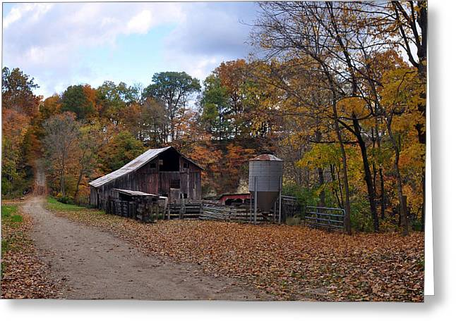 Indiana Autumn Greeting Cards - Warren County Indiana Greeting Card by Marsha Williamson Mohr