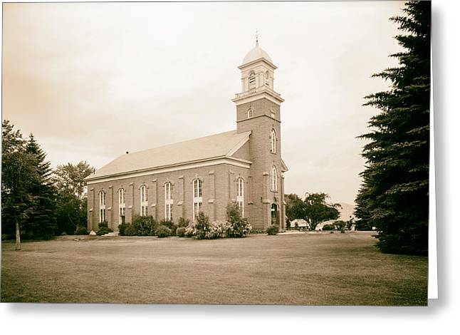 Mormon Tabernacle Greeting Cards - Wasatch Stake Tabernacle - Heber City Utah 1967 Greeting Card by Mountain Dreams