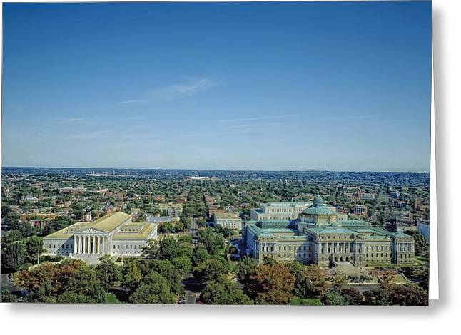 Congress Street Greeting Cards - Washington DC Landmarks Greeting Card by Mountain Dreams