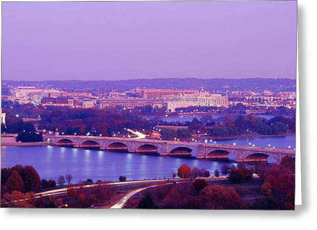 Washington Monument Greeting Cards - Washington Dc Greeting Card by Panoramic Images