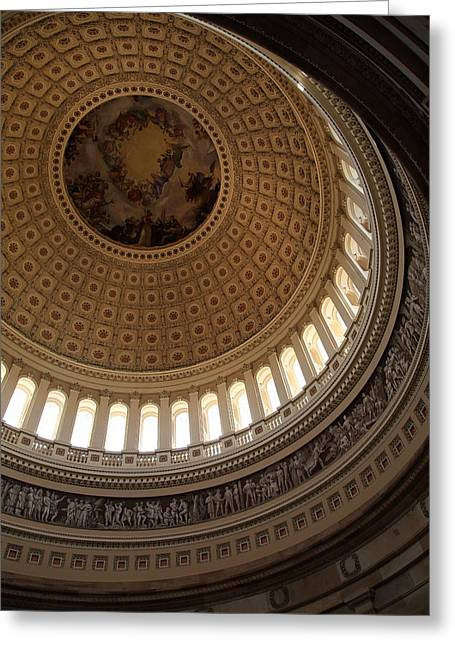 Steps Greeting Cards - Washington DC - US Capitol - 011313 Greeting Card by DC Photographer