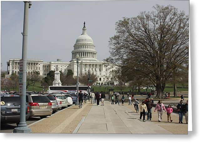 Washington Dc - Us Capitol - 01133 Greeting Card by DC Photographer