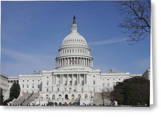Hills Greeting Cards - Washington DC - US Capitol - 01138 Greeting Card by DC Photographer