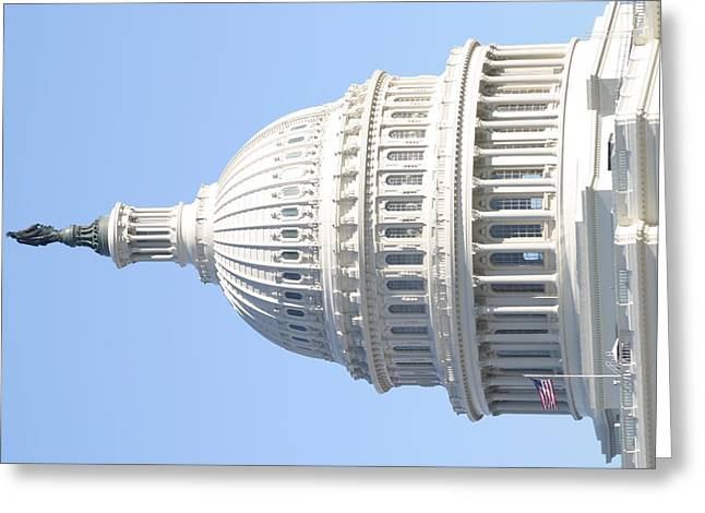 Federal Greeting Cards - Washington DC - US Capitol - 01139 Greeting Card by DC Photographer