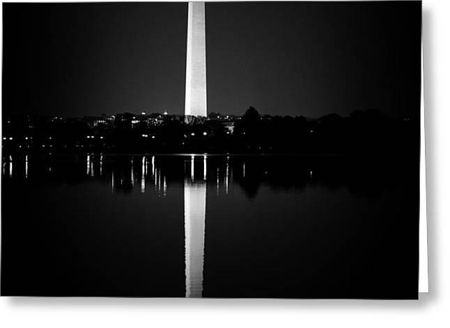Washington Monument Greeting Card by Sanjay Nayar