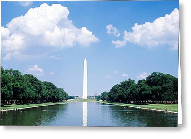 Washington Monument Greeting Cards - Washington Monument Washington Dc Greeting Card by Panoramic Images
