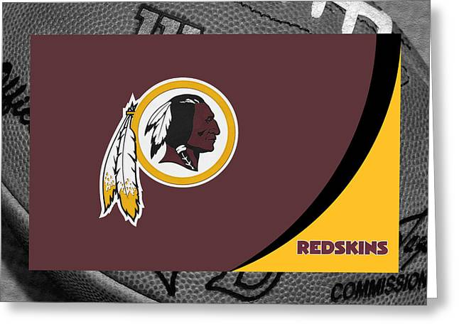 Goals Greeting Cards - Washington Redskins Greeting Card by Joe Hamilton