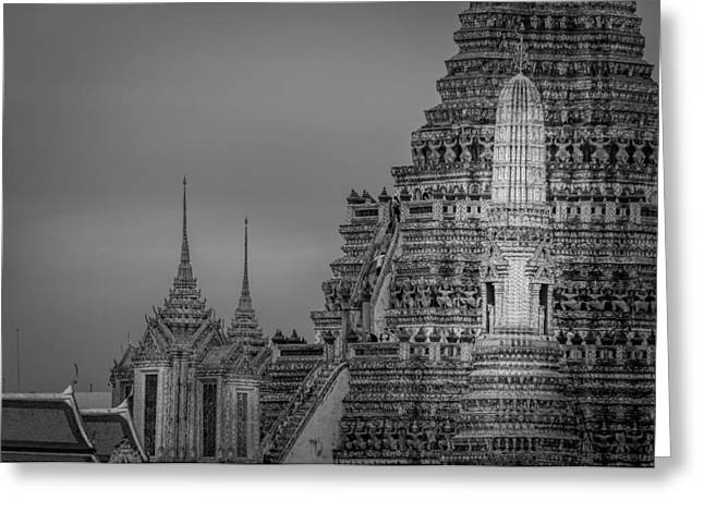 Asien Greeting Cards - Wat Arun - The Temple of Dawn - Bangkok Thailand Greeting Card by Colin Utz