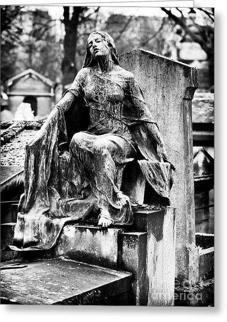 Cemeteries Of Paris Greeting Cards - Watching Over You Greeting Card by John Rizzuto