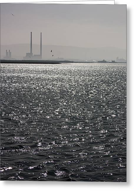 Industrial Icon Greeting Cards - Water and Haze Greeting Card by Semmick Photo