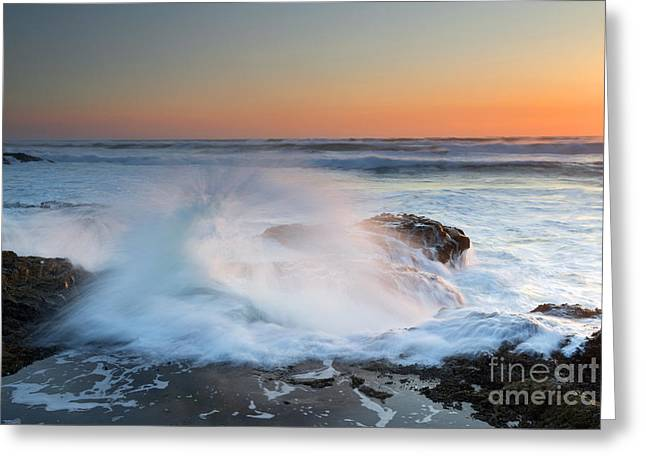 Explosion Photographs Greeting Cards - Ocean Dance Greeting Card by Mike  Dawson