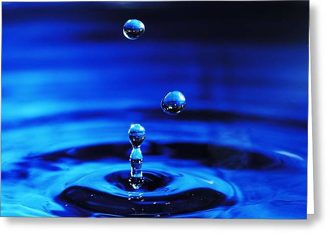 Rippled Water Greeting Cards - Water Drops Greeting Card by Tim Hayes