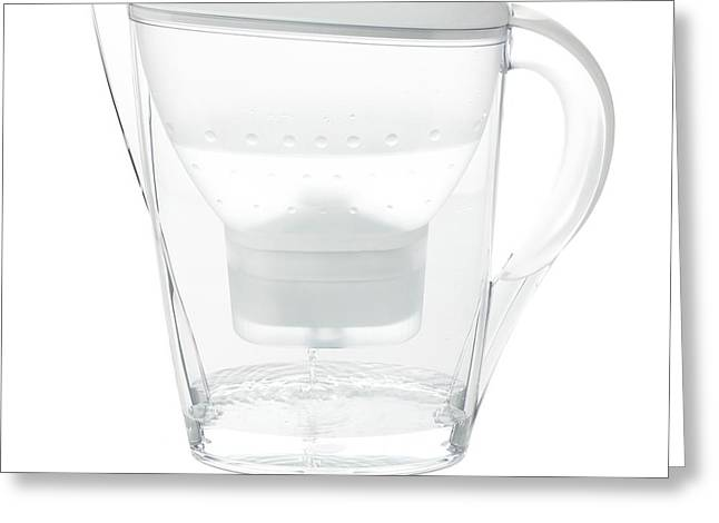 Water Filter Jug Greeting Card by Science Photo Library