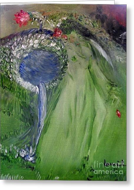 Recently Sold -  - Laurie D Lundquist Greeting Cards - Water Girl Greeting Card by Laurie D Lundquist