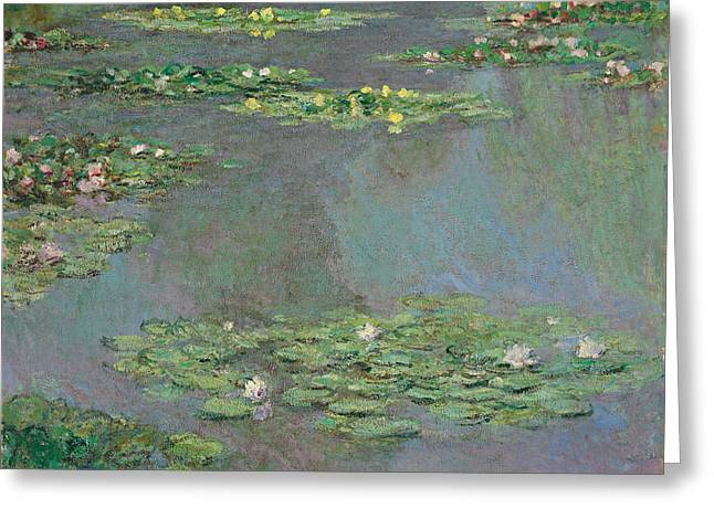 Monet Reproduction Greeting Cards - Water Lilies   Nympheas Greeting Card by Claude Monet