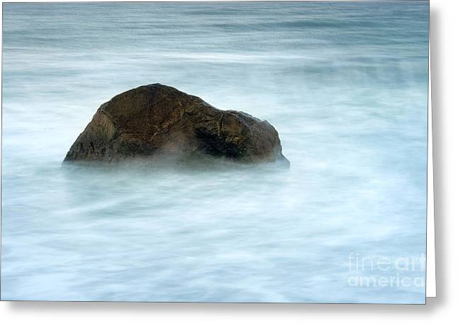 Steadfast Greeting Cards - Water Rock Greeting Card by John Greim