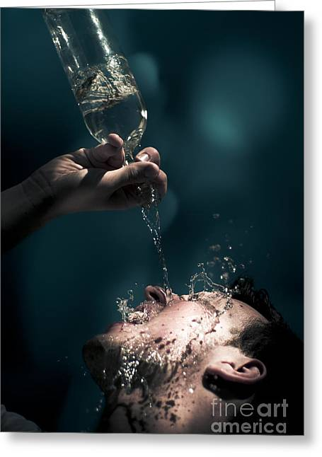 Revive Greeting Cards - Water Greeting Card by Ryan Jorgensen