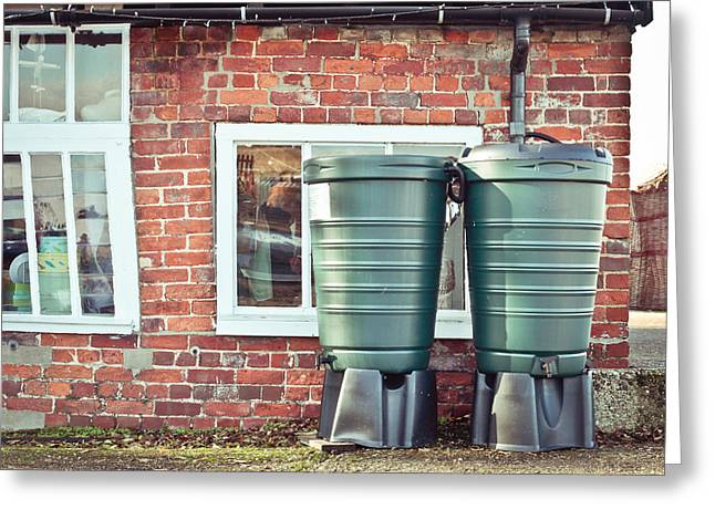 Botany Greeting Cards - Water tanks Greeting Card by Tom Gowanlock