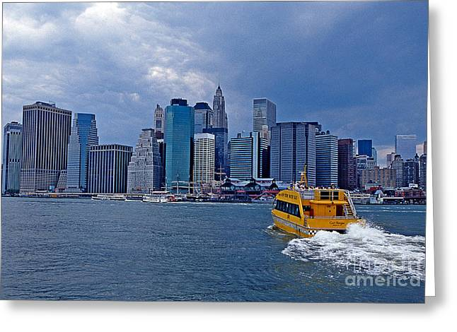 Water Taxi Greeting Card by Bruce Bain