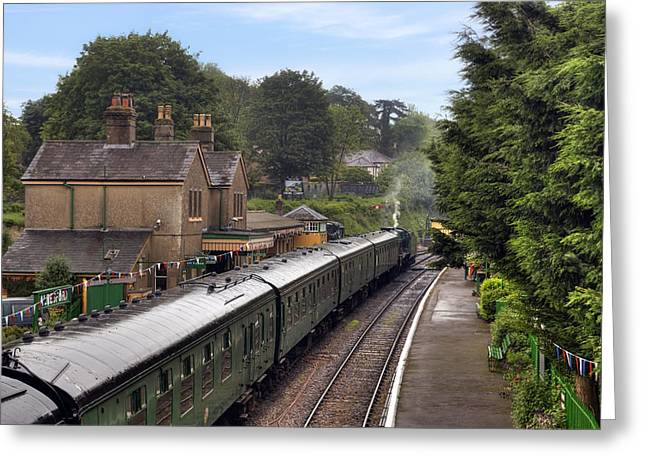 Watercress Greeting Cards - Watercress Line Alresford Greeting Card by Joana Kruse