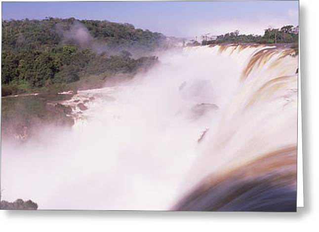Raining Greeting Cards - Waterfall After Heavy Rain, Iguacu Greeting Card by Panoramic Images