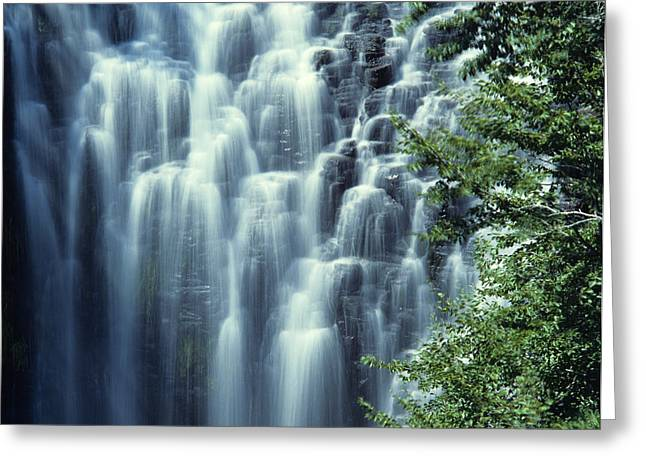Auvergne Greeting Cards - Waterfall. Auvergne. France Greeting Card by Bernard Jaubert