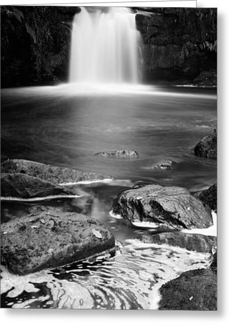 Waterfall In A Forest, Thomason Foss Greeting Card by Panoramic Images