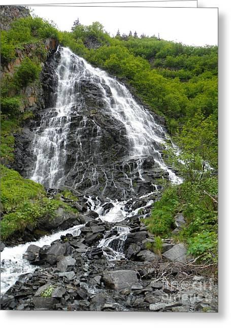 Jennifer Kimberly Greeting Cards - Waterfall Greeting Card by Jennifer Kimberly