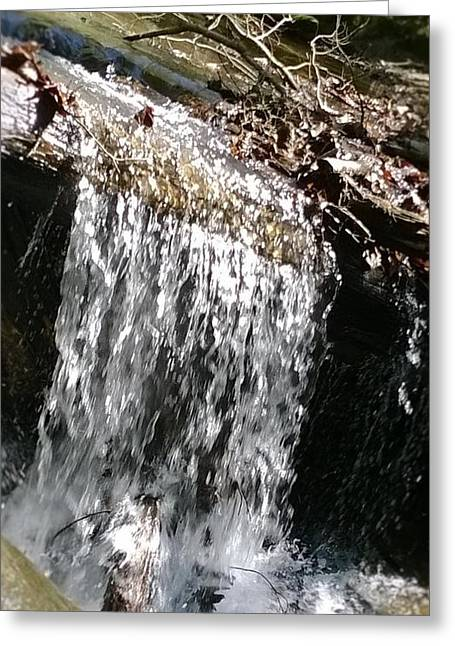 Waterfalls Pyrography Greeting Cards - Waterfall Greeting Card by Tiffany Briggs