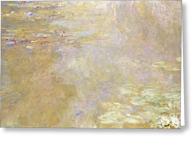 Monet Reproduction Greeting Cards - Waterlily Pond Greeting Card by Claude Monet