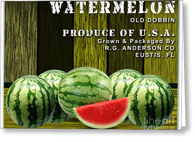 Watermelon Greeting Cards - Watermelon Farm Greeting Card by Marvin Blaine
