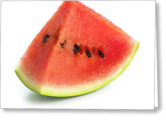 Watermelon Greeting Card by Science Photo Library