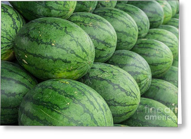 Watermelon  Greeting Card by Tosporn Preede