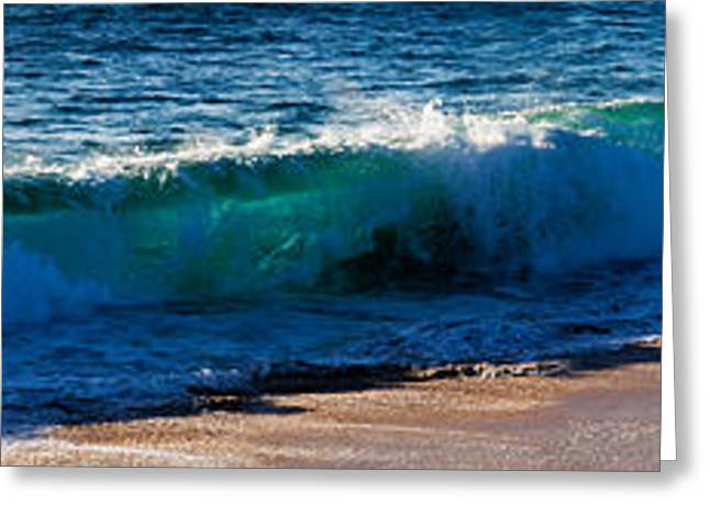 California Ocean Photography Greeting Cards - Wave Splashing On The Beach, Todos Greeting Card by Panoramic Images