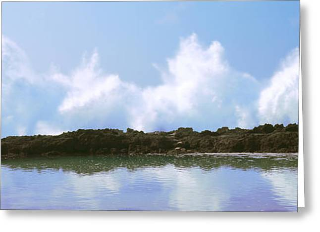 Ocean Photography Greeting Cards - Waves Breaking On Cove, Oahu, Hawaii Greeting Card by Panoramic Images