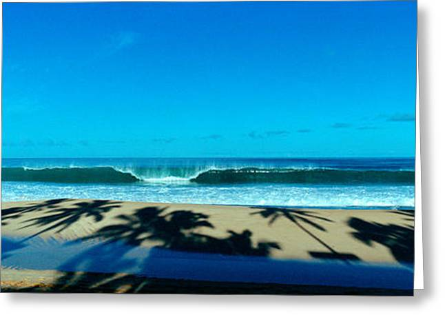 Panoramic Ocean Greeting Cards - Waves In The Ocean, North Shore, Oahu Greeting Card by Panoramic Images