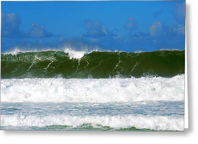 Pacific Islands Greeting Cards - Waves In The Pacific Ocean, Hawaii, Usa Greeting Card by Panoramic Images