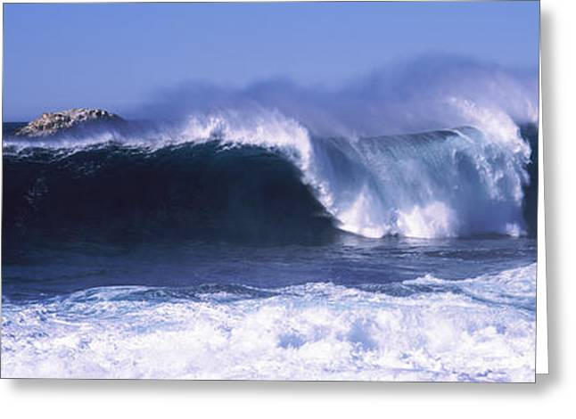 Big Sur Greeting Cards - Waves In The Sea, Big Sur, California Greeting Card by Panoramic Images