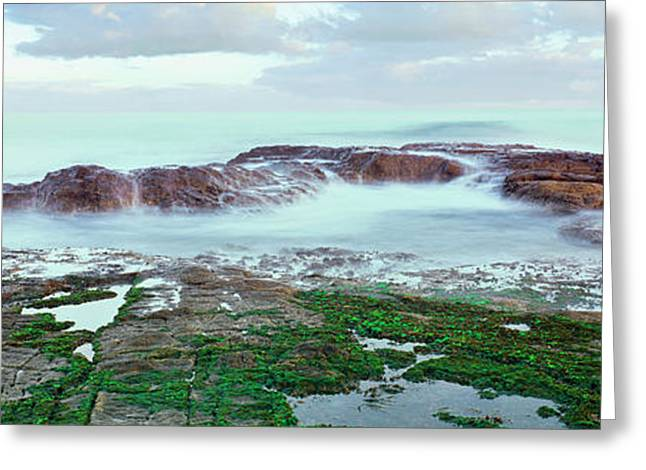 Waves On The Coast, Las Rocas Beach Greeting Card by Panoramic Images