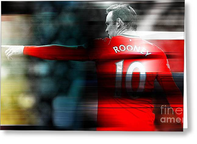 Wayne Rooney Greeting Cards - Wayne Rooney Greeting Card by Marvin Blaine