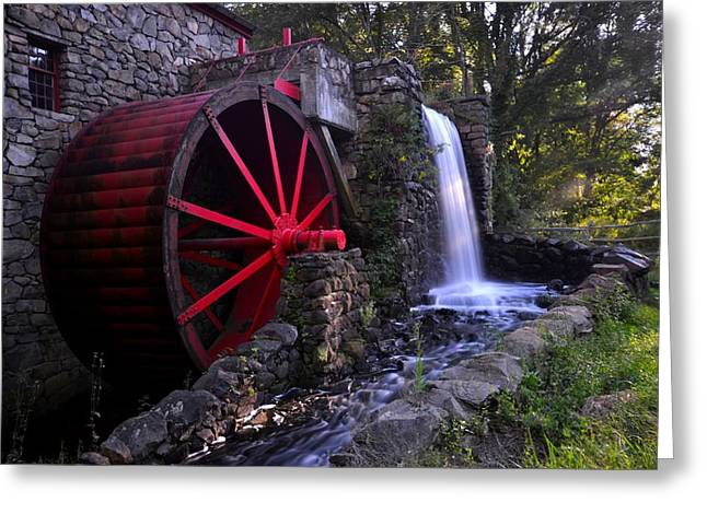 Wayside Inn Greeting Cards - Wayside Inn Grist Mill Greeting Card by Toby McGuire